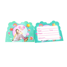 10PCS/PACK Happy Birthday Party Decoration Girls Kids Child Favors Soy Luna Theme Invitation Cards Baby Shower Events Supplies