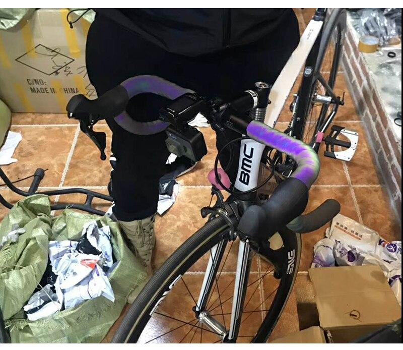 Cham/äleon Farbe Radfahren Rennrad Bar Band Weich Eva PU Fahrrad Lenker Band Anti-Vibration Wrap Tape Yuciya Lenkerband