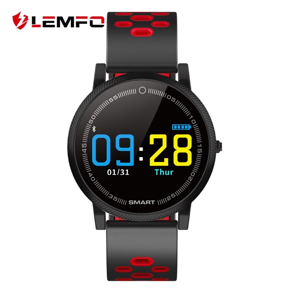 LEMFO Professionnel Sport Montre Smart Watch Surveillance de la Fréquence Cardiaque Sang Pression IP67 Étanche 30 Jours Batterie Smartwatch Hommes