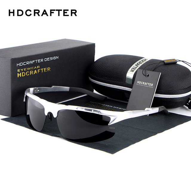 HDCRAFTER Brand Designer Men's Sunglasses Polarized Driving Sun Glasses Aluminum magnesium Goggle oculos Male