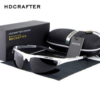 HDCRAFTER Marca Designer óculos de Sol dos homens Polarizados Condução Óculos de Sol de Alumínio e magnésio óculos Masculinos