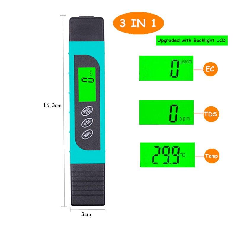 Medidor TDS EC Medidor de temperatura bolígrafo 3 In1 Función - Instrumentos de medición - foto 2