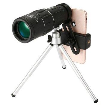 цена на 16X52 monoculars telescope mobile phone camera clip high-definition HD mini low light night vision children look glasses outdoor