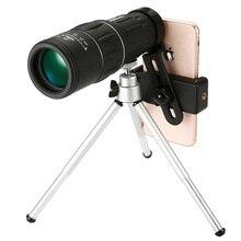 16X52 монокулярный телескоп мобильный телефон камера клип высокой четкости HD мини низкой освещенности ночного видения дети выглядят очки на открытом воздухе