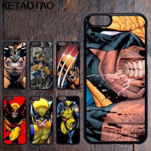 KETAOTAO Wolverine Marvel Comic X Man Phone Cases for iPhone 4S 5C 5S 6S 7 8 6Plus 7Plus 8Plus X Case Soft TPU Rubber Silicone image