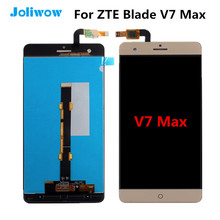 Tested! For ZTE Blade V7 Max LCD Display With Touch Screen Digitizer Assembly Replacement For ZTE Blade V7 Max screen white black for zte blade a310 lcd display touch screen digitizer assembly replacement free shipping order tracking