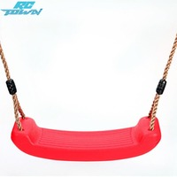 RCtown Kid Indoor Outdoor Play Game Toy Swing Seat Set Plastic Hard Bending Plate Chair and Rope zk40