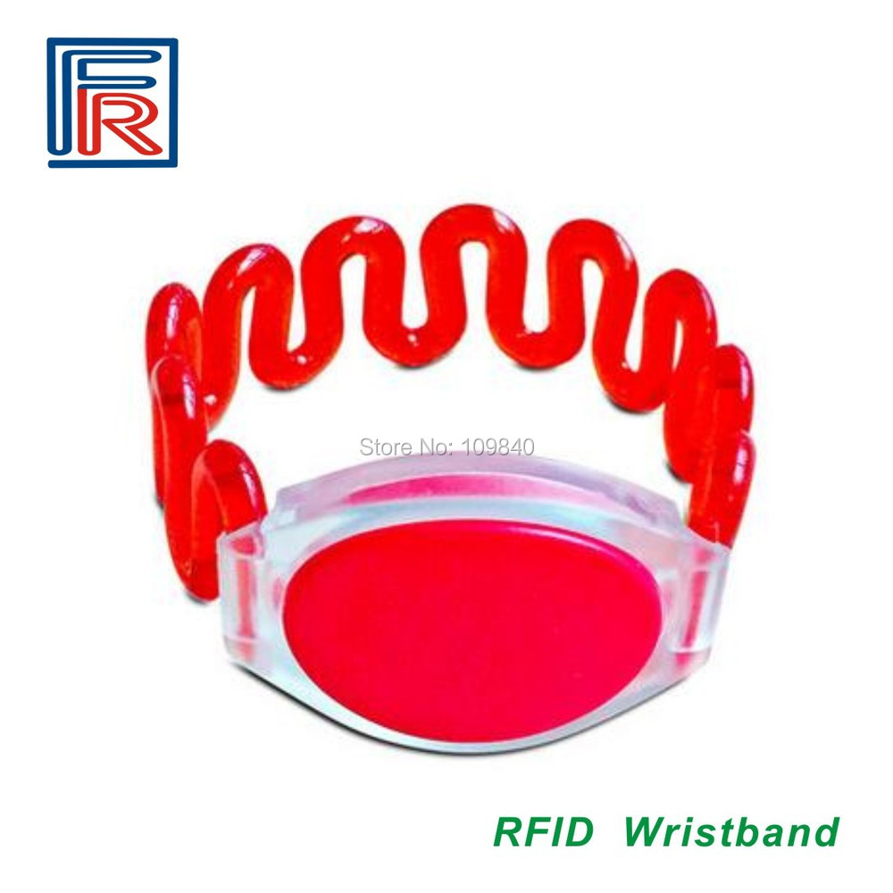 Hotel Waterpark Waterproof Wristband/bracelet For Access Control/cabinet Door Key Card 13.56MHz Rewritable RFID Tag500pcs