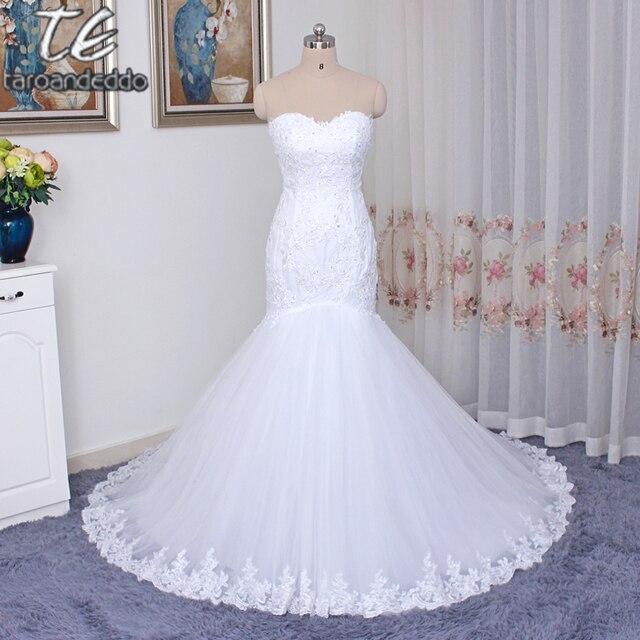 Vestido de noiva manga longa Sweetheart Sheer Bodice Applique Lace ...