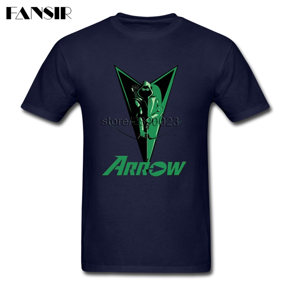 Funny TV Series Green Arrow T Shirt Men Custom Cotton Short