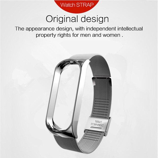 Mi band 6 3 4 5 Strap Metal for Xiaomi Mi Band 5 4 3 Bracelet Screwless Xiaomi Mi Band 4 Bracelet Correa Xiomi MiBand Wrist Band 2