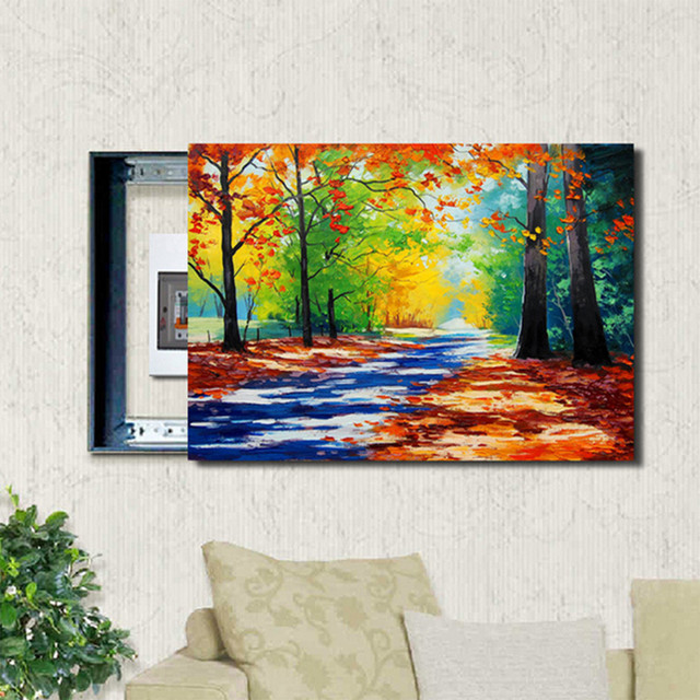 Diy draw yourself path oil canvas painting switch cover wall art diy draw yourself path oil canvas painting switch cover wall art unframe decor home decor painting solutioingenieria Gallery