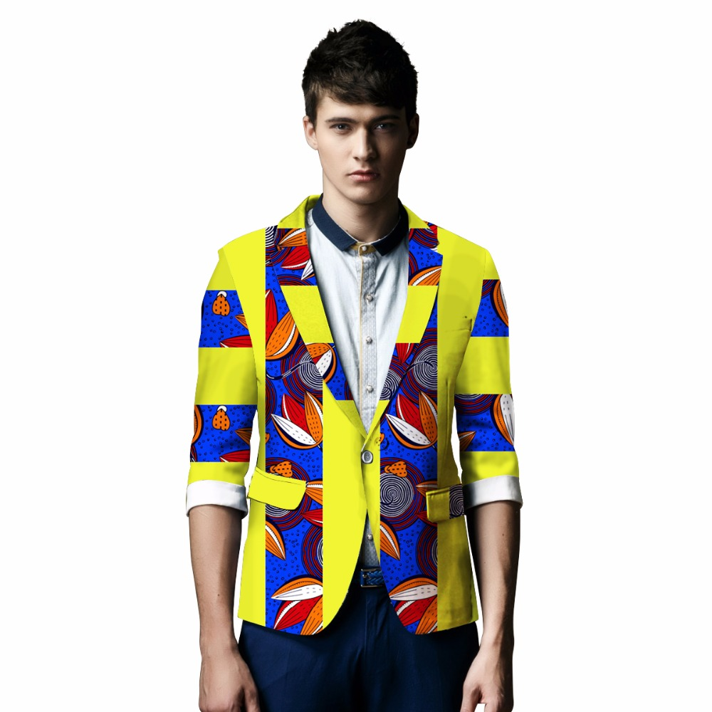 African Print Klær Bazin Riche Elegant Blazer Menn Suit Jakke Casual - Nasjonale klær - Bilde 2