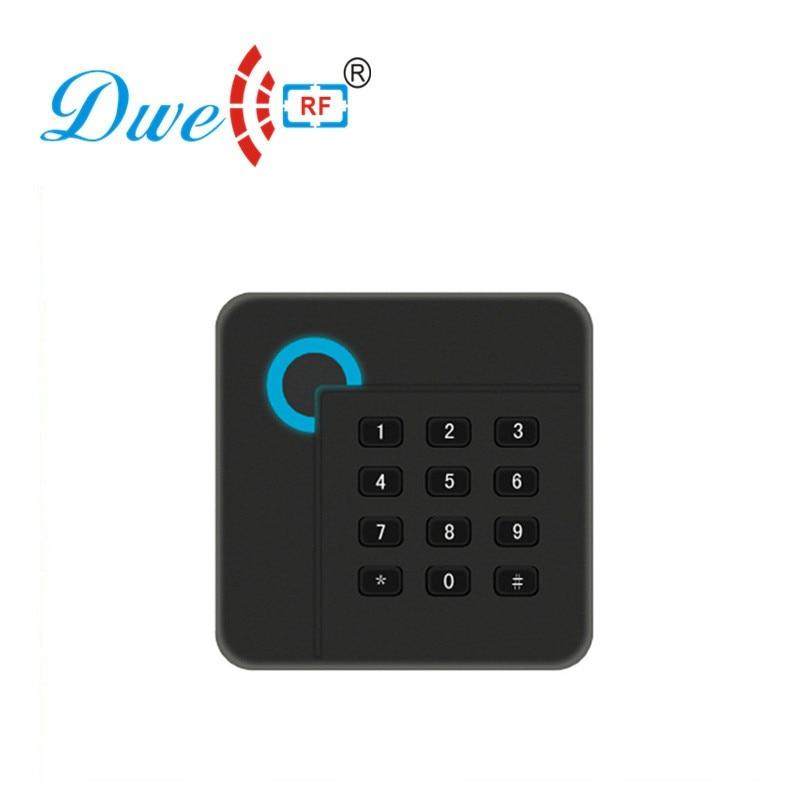 DWE CC RF access control card reader black rfid reader 13.56mhz door entry system password reader dwe cc rf access control card black rfid reader tag em4100 keyfobs for access control system k016