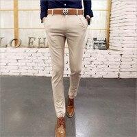 2016 Autumn Winter New Men S Casual Pants Men S Solid Color Feet Pants Korean Slim