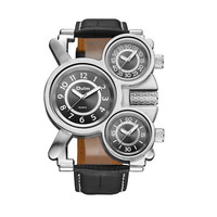 trade hot watches multi time zone leather strap watch womens watches