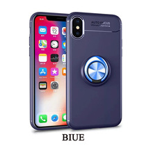 Cong fee TPU phone case and  Car Holder Stand Magnetic Bracket Finger Ring for iphoneX xs xr XS max 6 6s 6splus 7 7s 7splus 8 8s