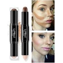 LAMILEE Double Head 3D Bronzer Highlighter Stick Face Makeup Concealer Pen Foundation Cream Texture Contour Pencil