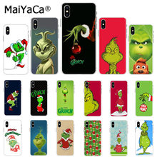 Maiyaca Green Grinch Christmas DIY Luxury High-end Protector Case for Apple iPhone 8 7 6 6S Plus X XS MAX 5 5S SE XR Cover(China)