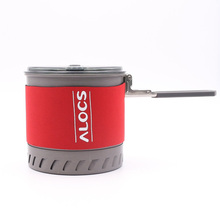 Alocs 1-2 Person Camping Pot with Bowl and Cup Outdoor Cookware Folding Handle Exchanger Pot CW-S10 стоимость