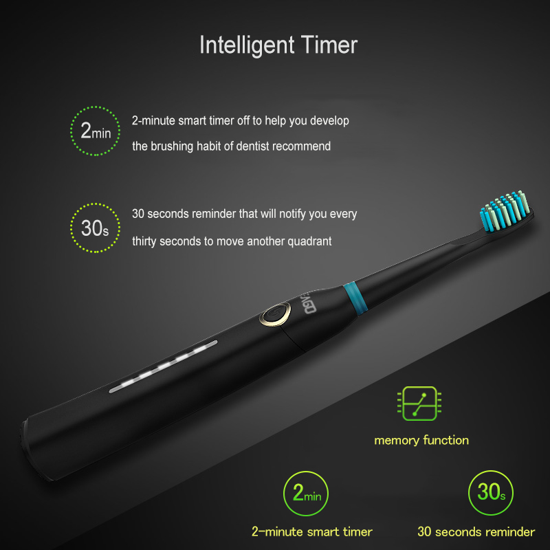 SEAGO Sonic Toothbrush Rechargeable Electric Brush Tooth Toothbrush Set for Travel Waterproof Electrical Brush with Travel Case