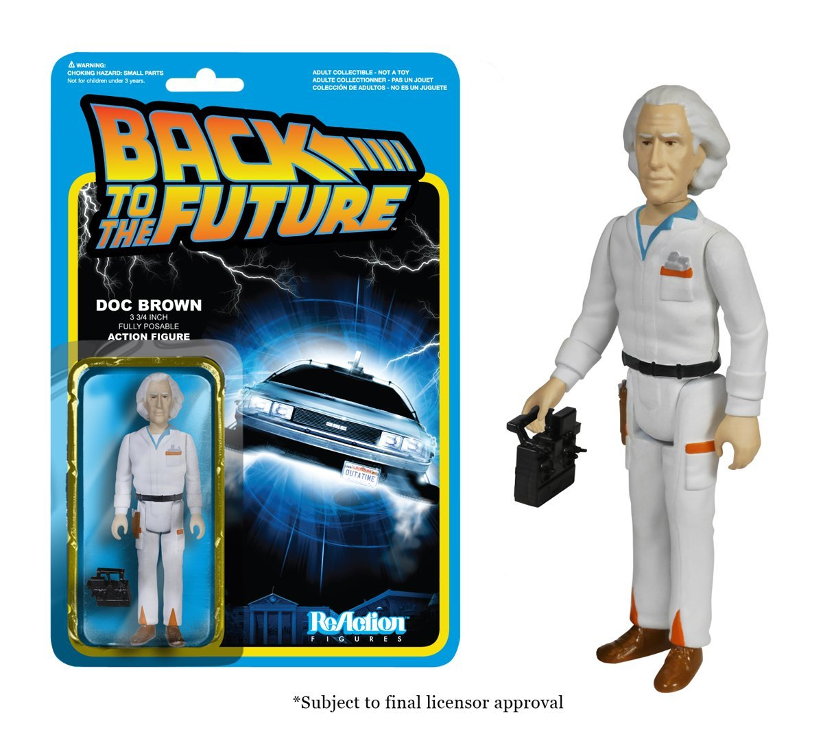 Funko ReAction Figure Back to The Future - Doc Emmett Brown Vinyl Action Figure Collectible Model Toy with Original Box ...