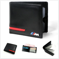 Genuine Leather Wallet Coin Purse Holder For BMW E46 E60 E90 E30 E92 E93 F30 F10