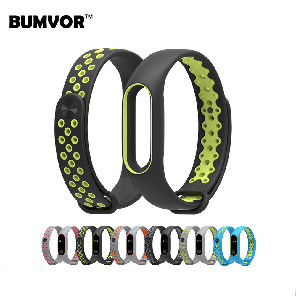 BUMVOR Straps For Xiaomi Mi Band 2 Colorful Silicone Wrist Strap For Mi Band 2 Replacement Wristband Accessories for xiaomi mi band 2 replace wrist strap