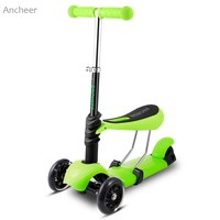 Ancheer Newest Mini Kick Scooter Child Kids 3 Wheel Mini Kick Scooter With Adjustable Handle T
