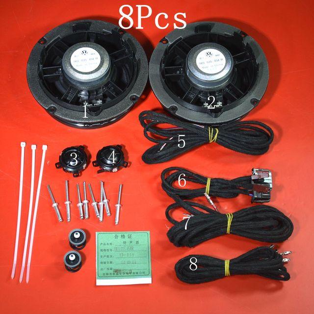 8 Pcs Genuine New VW Jetta MK5 04-10 Front Door Loud Speaker +Tweeter : wiring tweeters to door speakers - yogabreezes.com