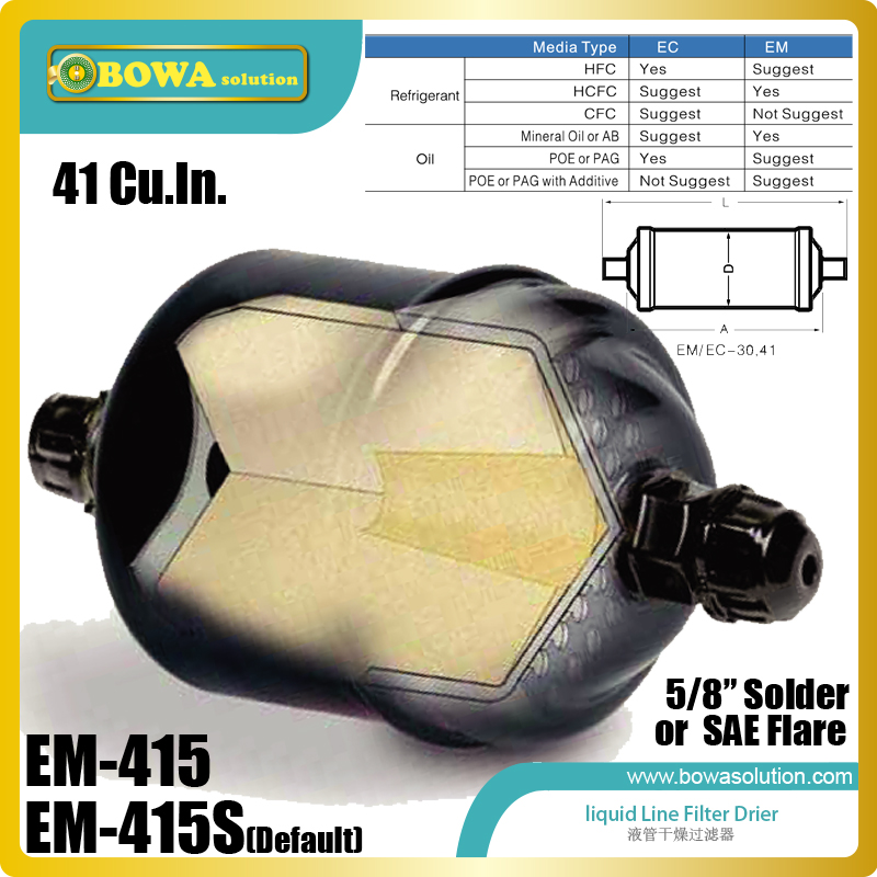 EM415 high quality liquid line Filter Dryers Use With R-12, R-22, R-500, R-502, R-402B, R-402A, R-134A, HCFC refrigerant редьярд киплинг a diversity of creatures