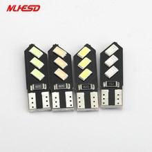 2 pces carro lâmpada led t10 6smd 5730 5630 canbus led luz do carro canbus luz branca t10 led w5w 194 lâmpadas de erro 6led