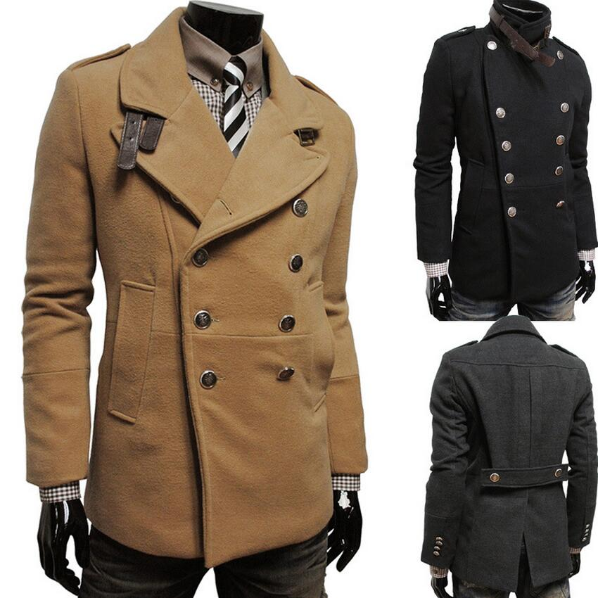 Online Get Cheap Double Breasted Trench Coat Men Wool -Aliexpress ...