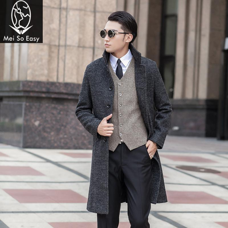 2019 New Style New Arrival Wool Medium-long Male Outerwear Overcoat Obese Fashion Men's Plus Size S M L Xl Xxl 3xl 4xl 5xl 6xl 7xl 8xl 9xl