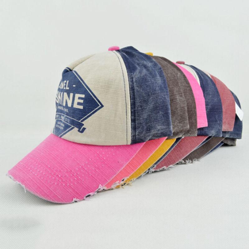 334f30fb New Style Vintage Baseball Caps Casual Active Hat Adjustable Flat Bill  Demin Distressed Cap Trucker Hat For Men Women