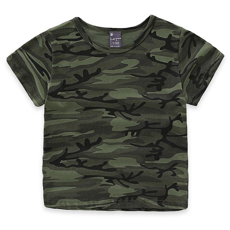 Children boys girls summer cotton short sleeve t shirt tee for Toddler t shirt printing