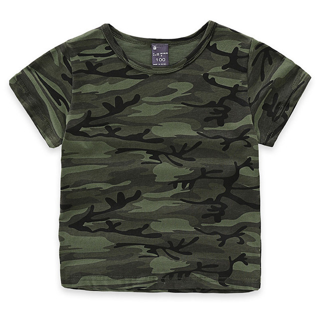 141951ef Children Boys Girls Summer Cotton Short Sleeve T-shirt Tee Tops Clothes Kids  Toddler Camouflage Print Tshirt t shirt clothing
