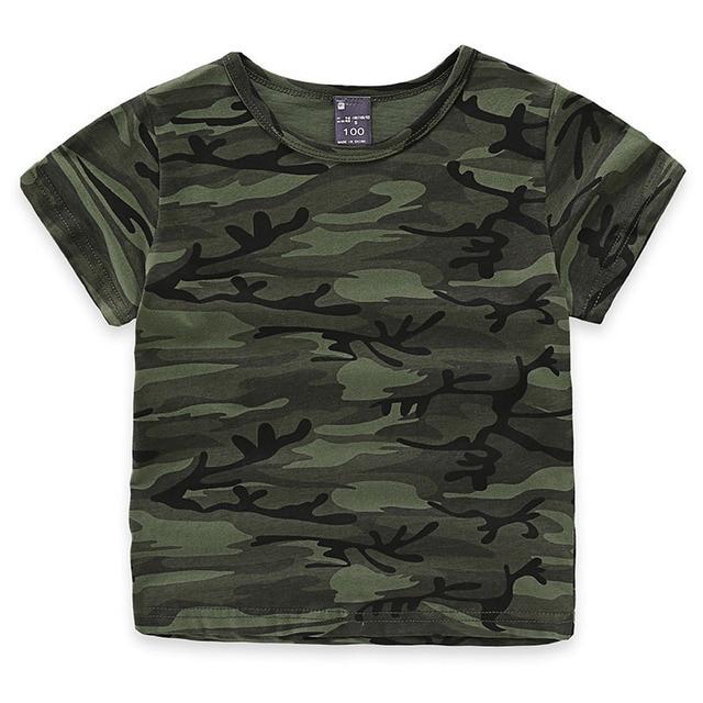 130dcae193f2f Children Boys Girls Summer Cotton Short Sleeve T-shirt Tee Tops Clothes  Kids Toddler Camouflage Print Tshirt t shirt clothing