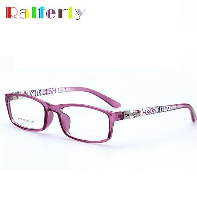 d2c7b2fe608 Ralferty Kids Optical Glasses Frames Boy Girl Myopia Prescription Eyewear  Child Spectacle Frame Student Square Eyeglasses 8804o