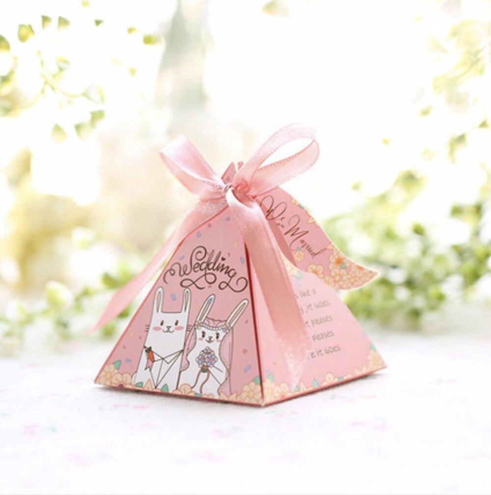 100pcs Creative Triangular lovely Cartoon rabbit cat couple Candy ...