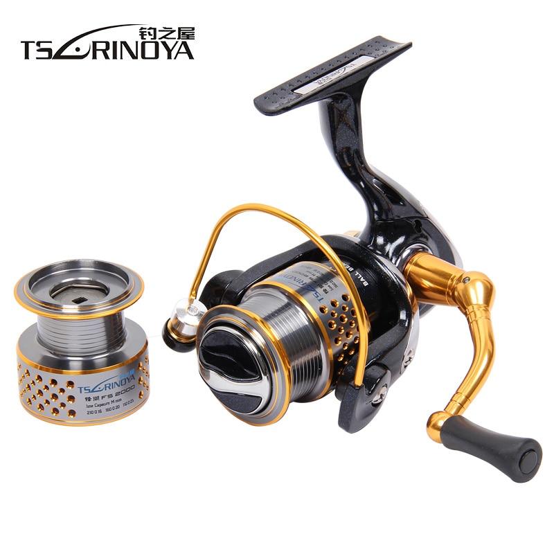 Tsurinoya Fishing Reels FENGSHANG2000 8 1BB 5 2 1 Two Spool Saltwater Lightweight Spinning Fishing Reel