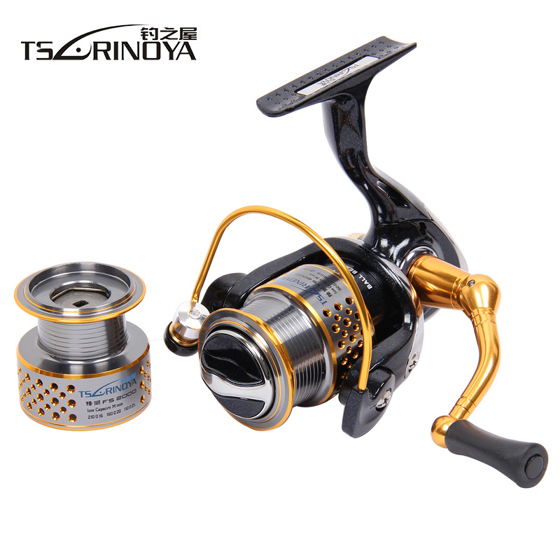 цена Tsurinoya New F2000 9BB 5.2:1 2 Spools Spinning Fishing Reel Lure Reels Rock Reel Full Metal Wheels Pesca Fishing Tackles