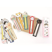 30Pcs/pack Lovely Warm Heart Private Cat Cartoon Paper Bookmark Book Holder Message Card Promotional Gift Stationery