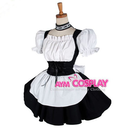 Online Shop Sissy Maid Dress Cotton Lockable Dress Maid Uniform Halloween  Lolita Dress Cosplay Costume | Aliexpress Mobile - Online Shop Sissy Maid Dress Cotton Lockable Dress Maid Uniform