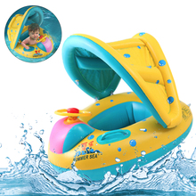 Baby Kids Summer Swimming Pool Swimming Ring Inflatable Swan Swim Float Water Fun Pool Toys Swim Ring Seat Boat Sport for 3-6Y 2019 summer new baby kids swimming ring inflatable swim ring seat boat float with sunshade cute cartoon tortoise shape