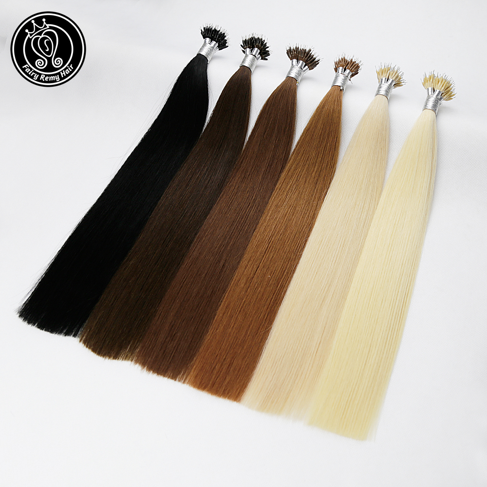 Fairy Remy Hair 1g s 18 Real Remy Nano Ring Links Human Hair Extensions Blonde Color