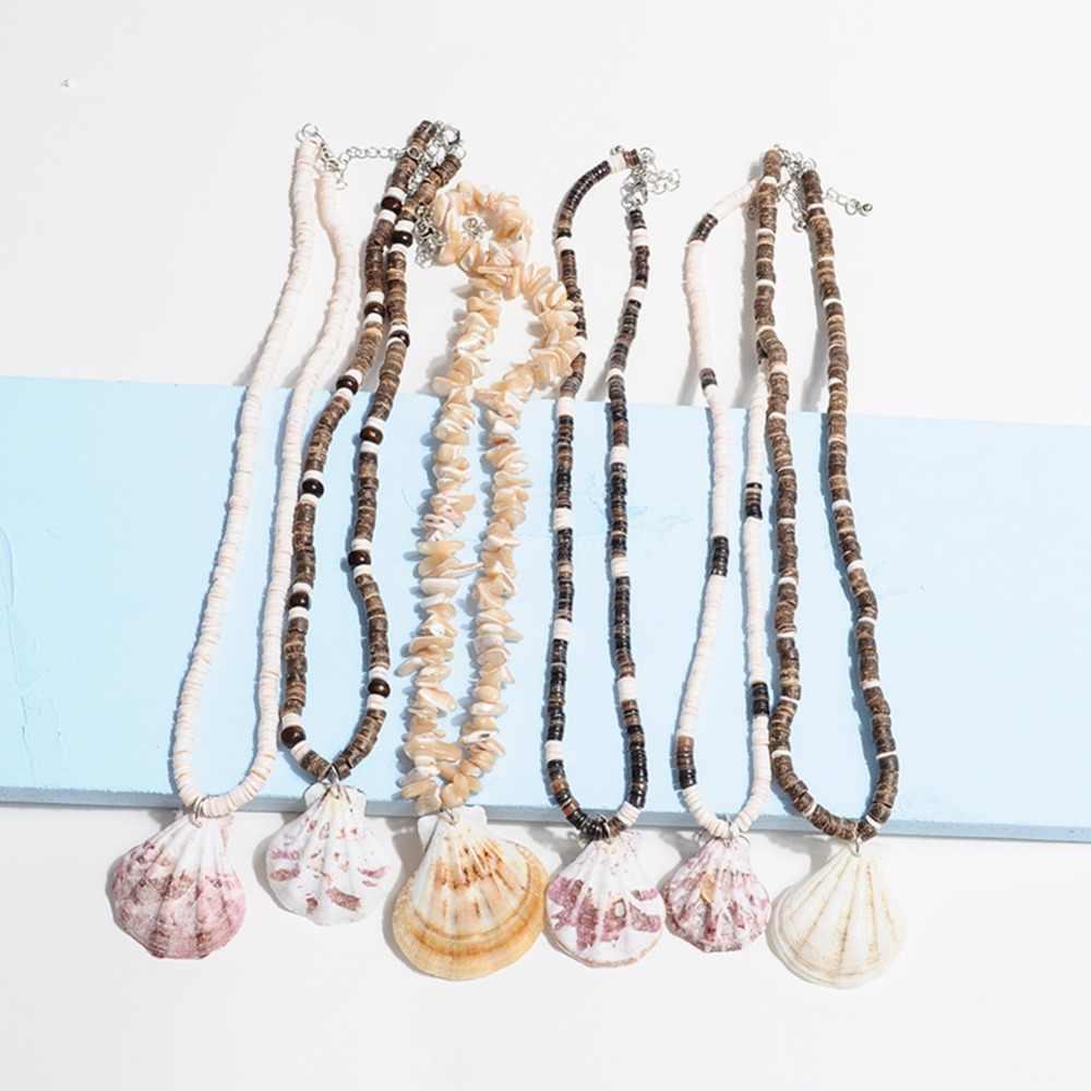 Artilady puka concha colar feminino homens puka contas de coco colar para mulheres verão praia jóias presente dropshipping
