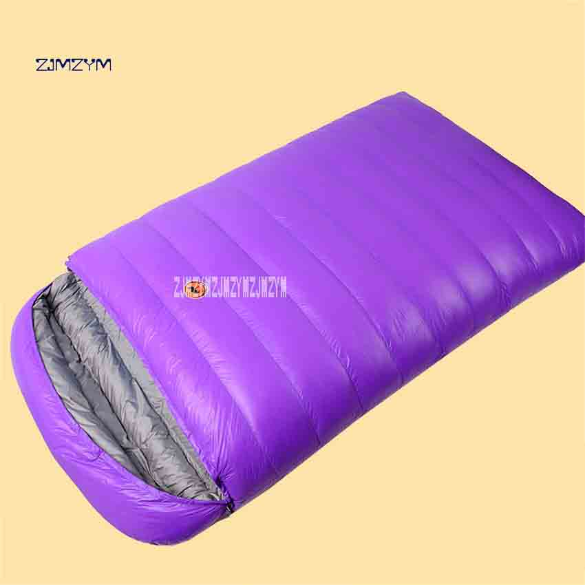 New Arrival CS108 Duck Down Sleeping Bag Adult Outdoor Winter Thick Camping 2 Person Capacity Portable Ultra Light Sleeping Bag west biking camping sleeping bag lunch adult sleeping bag can fight double sleeping spring autumn and winter thick sleeping bag