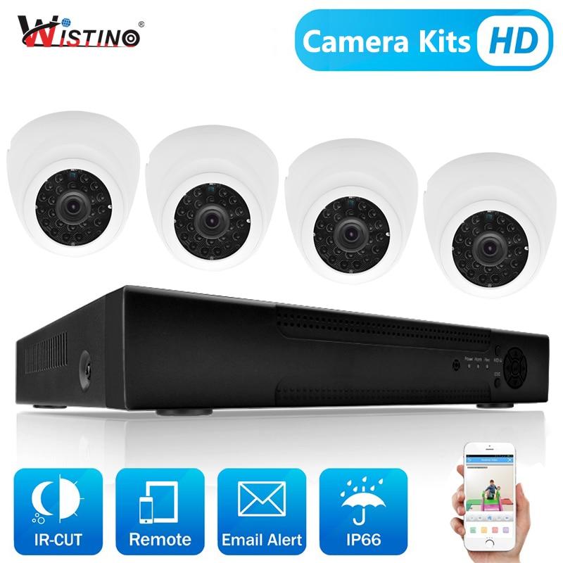 Wistino 1080 P 4 шт. IP Камера видеонаблюдения Системы комплект Ночное видение 8CH NVR Регистраторы монитор наблюдения Наборы H.265 XMeye 720 P