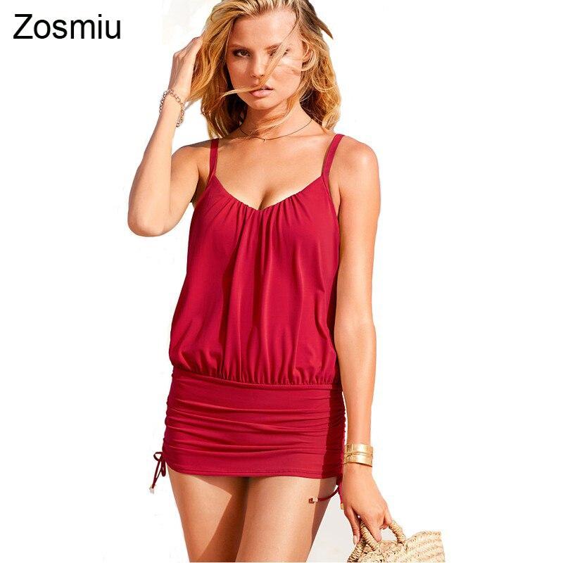 Zosmiu Model Girls Swimwear Sexy Strappy Muti-fuction One Piece Swimsuit Women Solid Color Beachwear Summer Holiday Bathing Suit
